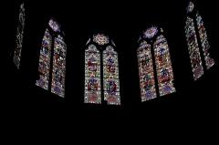 Eglise Saint-Bruno - Français:   Eglise Saint-Bruno de Voiron: les vitraux du choeur