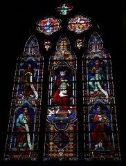 Eglise Saint-Bruno - Français:   Eglise Saint-Bruno de Voiron: vitrail de Moïse