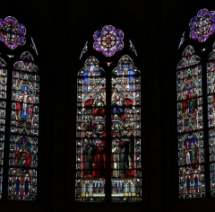 Eglise Saint-Bruno - Français:   Vitraux de l\'église Saint-Bruno de Voiron, XIXe siècle