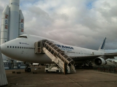 Aérogare du Bourget - English: B747 of Air France standing in Aircraft Museum in Le Bourget