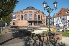 Théatre municipal - Deutsch: Théâtre municipal de Haguenau (Stadttheater) in Hagenau im Département Bas-Rhin (Elsass) in der Region Grand Est/Frankreich