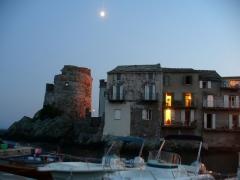 Tour d'Erbalunga -  Cap Corse - Erbalunga - the tour in ruins--sunset