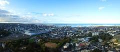 Batterie d'artillerie du Roule - Français:   Panoramique de la ville de Cherbourg-en-Cotentin depuis le Fort du Roule.