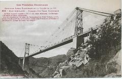 Pont Gisclard et stèle commémorative - Nederlands: Briefkaart van de Gisclard spoorbrug in de Oostelijke Pyreneeën