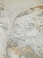 La Creute du Caïd - Français:   Ancre, sculpture Creute du Caïd à Aizy-Jouy