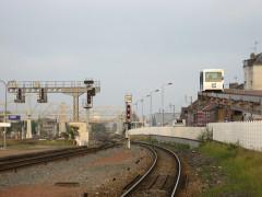 Rotonde et halle-atelier ferroviaires - Nederlands: Poma transport systeem dicht bij het sppoorstation