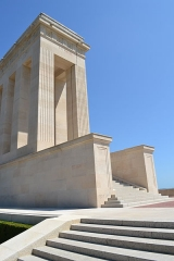 Monument américain de la cote 204 - English: 30th Infantry Division Monument Front