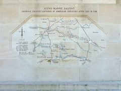 Monument américain de la cote 204 - English: Battle map on the Château-Thierry American Monument corresponding to the 2nd Battle of The Marne.