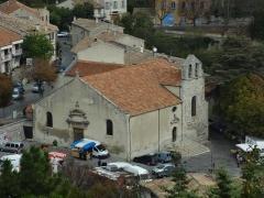 Eglise paroissiale Notre-Dame de l'Assomption -  Église Notre-Dame-de-l'Assomption de Reillanne, vue du castrum