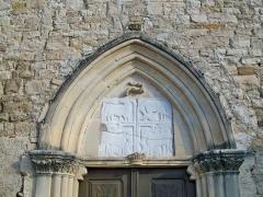 Eglise Saint-Georges -  Fronton de l'église de Limans (04)