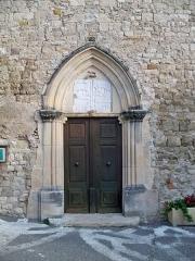 Eglise Saint-Georges -  Portail de l'église Saint Georges de Limans (04)
