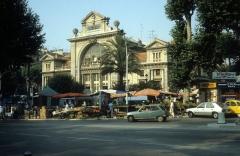 Ancienne gare du Sud - Deutsch: CP, Chemins de fer de Provence: Gare Nice CP (Gare de Provence) in Nice / Nizza (Place Gare du Sud) im Juli 1982.