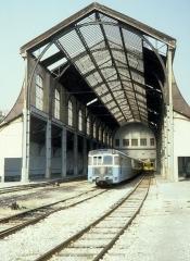 Ancienne gare du Sud - Deutsch: CP, Chemins de fer de Provence: Die Halle der Gare CP / des CP-Bahnhofs im August 1980.
