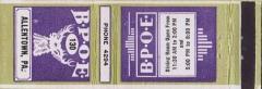 Ancienne grange d'Outre-Aube - English: Elks Club - Matchcover - Allentown PA