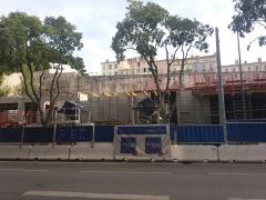 Carrière antique de la Corderie - Français:   Immeuble (8 étages prévus) en construction  cachant le  site Corderie 15 sept 2018 ( vue du bd de la Corderie)