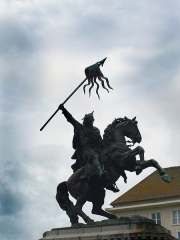 Statue de Guillaume le Conquérant -  Statue équestre du Duc Guillaume le Conquérant