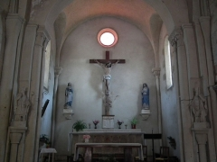 Eglise Saint-Simon - Français:   Intérieur de l\'église de Saint-Simon-de-Bordes
