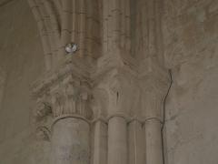 Eglise Saint-Simon - English:   Saint-Simon-de-Bordes, church, detail of one of the interior columns