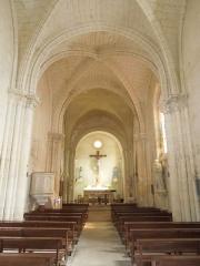 Eglise Saint-Simon - English:   Saint-Simon-de-Bordes, the nave of the village church