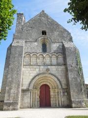 Eglise Saint-Simon - English:   Saint-Simon-de-Bordes, west facade of the village church