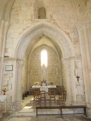 Eglise Saint-Simon - English:   Saint-Simon-de-Bordes, village church, chapel on the northern side of the nave