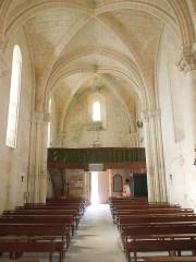 Eglise Saint-Simon - English:   Saint-Simon-de-Bordes, village church, view from the altar towards the portal