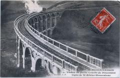 Viaduc de Douvenant - Nederlands:   Oude briefkaart van spoorviaduct