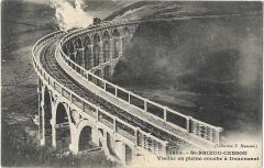 Viaduc de Douvenant - Français:   Viaduc en courbe de Douvenant, près de Saint-Brieuc. Collection E.Hamonic.