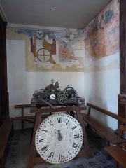 Eglise Saint-Martin - Français:   Peintures murales et horloge de l\'église Saint-Martin, Mézières-en-Drouais, Eure-et-Loir, France.