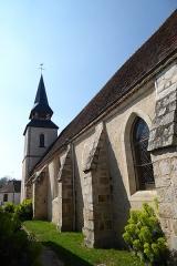 Eglise Saint-Martin - Français:   mur nord et clocher de l\'église Saint-Martin, Mézières-en-Drouais, Eure-et-Loir, France.