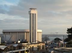 Tumulus de Réuniou - Gare de Brest au crépuscule