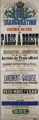 Tumulus de Réuniou - Brest: Affiche de la fête pour l'inauguration du chemin de fer de Paris à Brest (1865)