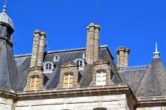 Domaine de Kernévez - Français:   Détails du toit du château de Kernevez et son parc à Saint-Pol-de-Léon (Finistère).