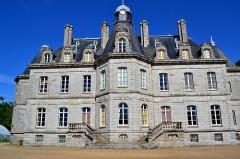 Domaine de Kernévez - Français:   Château de Kernevez (côté ouest) et son parc à Saint-Pol-de-Léon (Finistère).