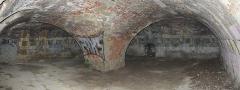 Batterie de Cornouaille - Intérieur du rez-de-chaussée de la tour modèle de la pointe de Cornouaille (Roscanvel, Finistère, Bretagne, France.)      This  image was created with Hugin.