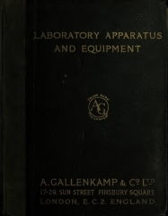 Monument commémoratif Napoléon et ses frères - English: A. Gallenkamp & Сo., Ltd. Laboratory apparatus and equipment. Catalogue 1910