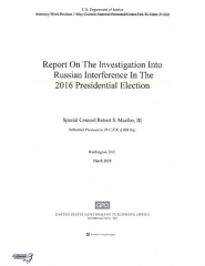 Statue du général Abbatucci - English: UPDATED NOW SEARCHABLE PDF Version - April 18, 2019 (retrieved April 23, 2019) Redacted version of Report On The Investigation Into Russian Interference In The 2016 Presidential Election, also known as the