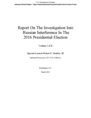 Citadelle Miollis - English: Now SEARCHABLE PDF Version - April 18, 2019, searchable as of April 25, 2019 Redacted version of Report On The Investigation Into Russian Interference In The 2016 Presidential Election, also known as the