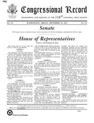 Eglise Saint-Charles - English: Congressional Record Volume 165, Issue 152, 2019-09-20
