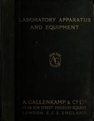 Couvent Saint-Dominique - English: A. Gallenkamp & Сo., Ltd. Laboratory apparatus and equipment. Catalogue 1910