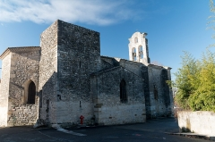 Eglise de Russan -  Parish church, ravaged by the floods of September 2002, partly restored but looted immediately after. (North-East facade)..