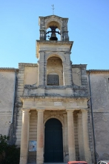 Temple protestant -  Church of Gallargues in a Typical Gard building style tower