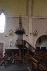 Église de la Nativité de Notre-Dame - Français:   chaire en bois de l\'église de Bassoues