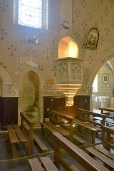 Église de la Nativité de Notre-Dame - Français:   chaire en pierre de l\'église de Bassoues