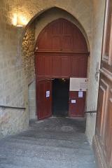 Église de la Nativité de Notre-Dame - Français:   entrée de l\'église de Bassoues
