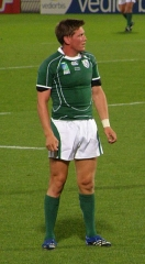Château de Sales (également sur commune de Lalande-de-Pomerol) - English: Irish rugby union player Ronan O'Gara during 2007 World Cup match against Georgia on Stade Chaban Delmas, Bordeaux, France.