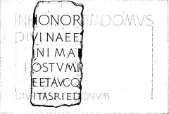 Enceinte fortifiée - English: Image from the book File:Mowat - Études philologiques sur les inscriptions gallo-romaines de Rennes.djvu, page 33, second image.