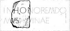 Enceinte fortifiée - English: Image from the book File:Mowat - Études philologiques sur les inscriptions gallo-romaines de Rennes.djvu, page 33, first image. Pierre actuellement au musée de Bretagne sous le numéro d'inventaire 868.0003.8.