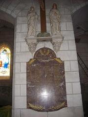 Eglise Saint-Martin - Église Saint-Martin de Lignières-de-Touraine (Indre-et-Loire, France): monument aux morts de la Première Guerre mondiale