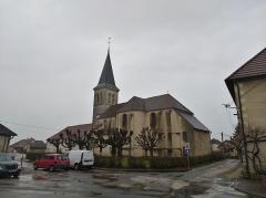 Eglise - Français:   Cramans (Jura, France) en janvier 2018.